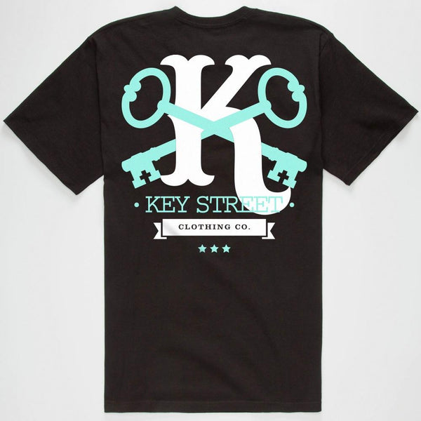KEY STREET CROSSED KEYS T-SHIRT - BLACK