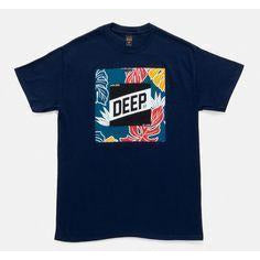 10 DEEP TROPICAL SLOPE T-SHIRT - NAVY
