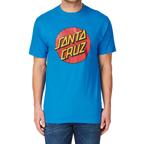SANTA CRUZ CLASSIC DOT T-SHIRT - SWEDISH BLUE