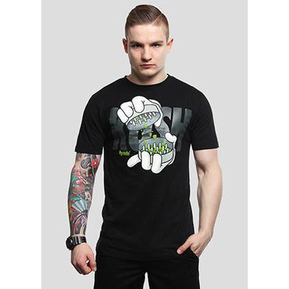 CAYLER & SONS GRINDIN T-SHIRT - BLACK/WHITE
