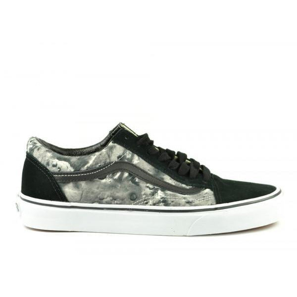 VANS OLD SKOOL SKATE SHOES - MOON BLACK