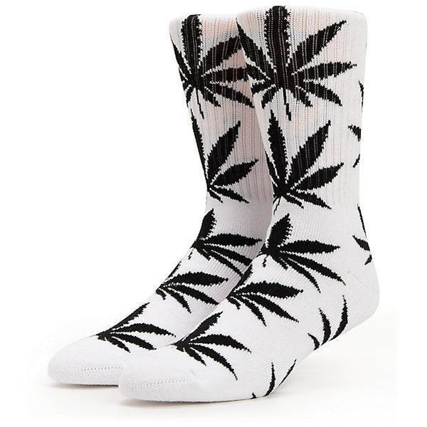 HUF PLANTLIFE STASH CAN SOCKS - WHITE/BLACK