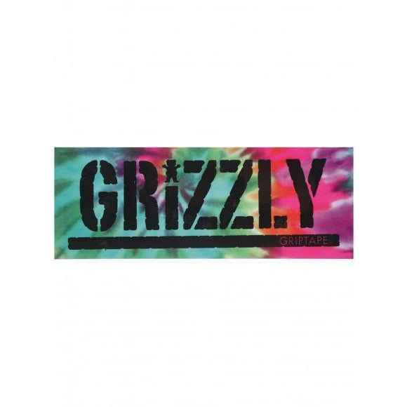 GRIZZLY REVERSE TIE-DYE STAMP STICKER