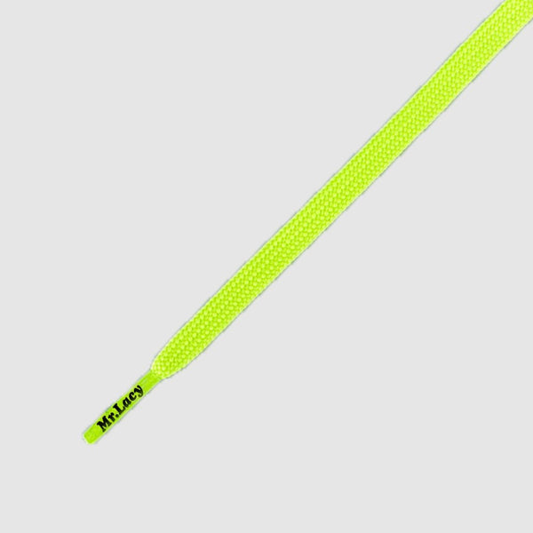 MR.LACY RUNNIES FLAT SHOELACES - NEON LIME YELLOW