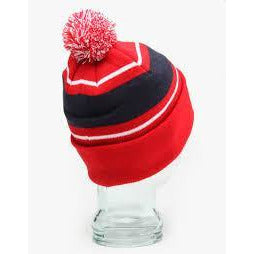 DIAMOND UN POLO POM POM BEANIE - RED