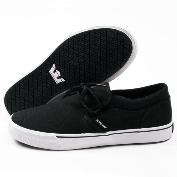 SUPRA CUBA SKATEBOARD SHOES - BLACK/WHITE
