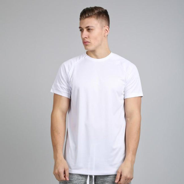 KING APPAREL VENT ZIP T-SHIRT - WHITE