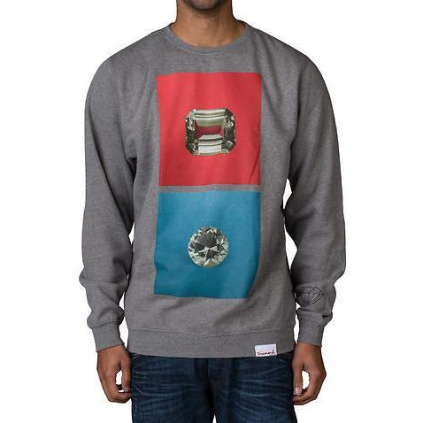 DIAMOND SUPPLY CO EMERALD SQUARE CREWNECK SWEATSHIRT