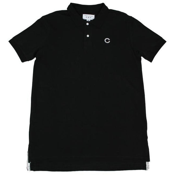 CROOKS & CASTLES REGAL POLO SHIRT - BLACK