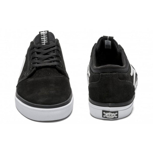 LAKAI GRIFFIN MS214 SKATE SHOES - BLACK/WHITE SUEDE