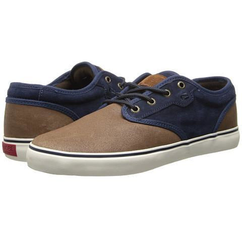 GLOBE MOTLEY DISTRESSED SKATE SHOES - BROWN/NAVY