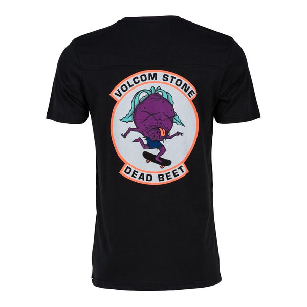 VOLCOM DEAD BEAT T-SHIRT - BLACK