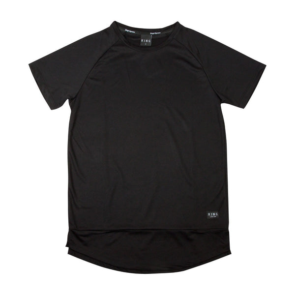 KING APPAREL PERF LIGHTWEIGHT T-SHIRT - BLACK
