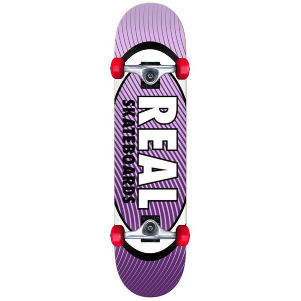 REAL TEAM OVAL HEATWAVE MINI COMPLETE SKATEBOARD PURPLE - 7.3""