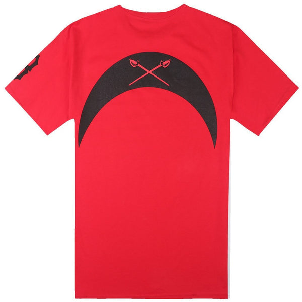 BLACK SCALE REBEL FLAG T-SHIRT - RED