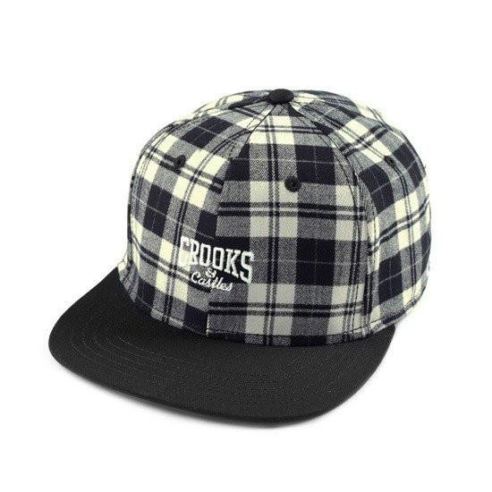 CROOKS & CASTLES CORE LOGO WOVEN SNAPBACK - PLAID