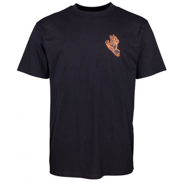 SANTA CRUZ CRASH HAND T-SHIRT - BLACK
