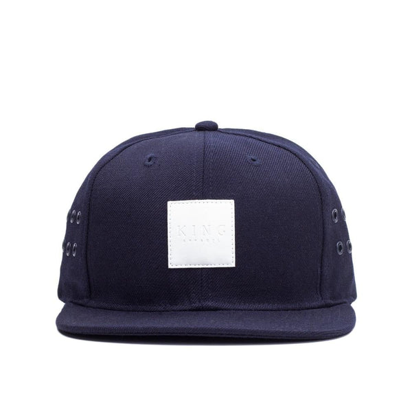 KING APPAREL VENT SNAPBACK HAT - NAVY