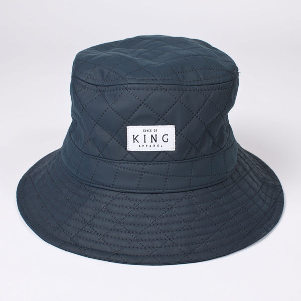 KING APPAREL WHITE LABEL BUCKET HAT - NAVY