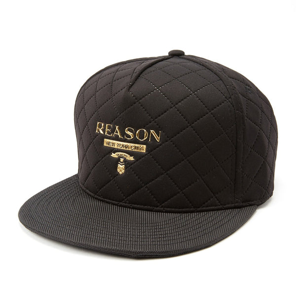REASON LUXE QUILTED SNAPBACK - BLACK