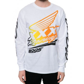 10 DEEP HIGHLANDS LONG SLEEVE T-SHIRT - WHITE