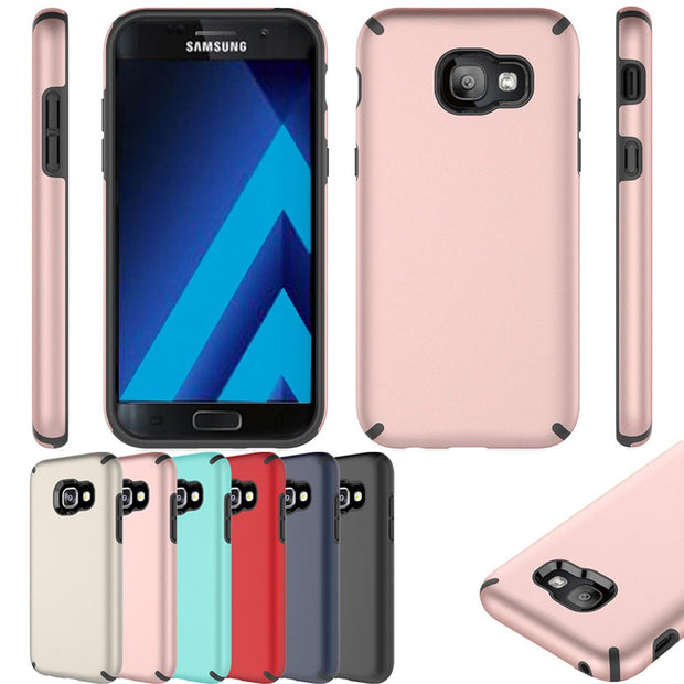 2 In 1 Hybrid Armor Case Shockproof Full Body Protective Hard PC TPU Silicone Cover For Samsung Galaxy A5 2017 A520 A520F @