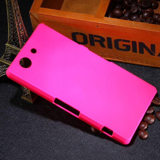2015 New Multi Colors Luxury Rubberized Matte Plastic Hard Case Cover For Sony Xperia Z3 Compact Z3 Mini Cell Phone Cover Cases