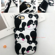 2017 3D Kungfu Panda Cartoon Animals Cute Panda Tower Pyramid Soft Silicone Case For Iphone 5S SE 6 6S Plus 7 8 Plus Back Cover