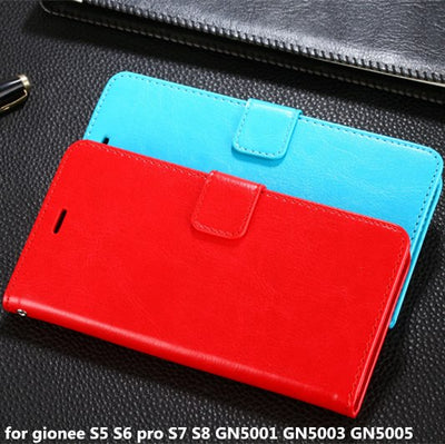 2017 Dirt Resistant PU+PC Flip Leather Bag Case For Gionee S5 S6 Pro S7 S8 Gn5001/Gn5003/Gn5005 Magnetic Wallet Phone Cover Capa