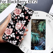 2PCS For BlackBerry KEY2 Case Cute Cartoon Soft Back Cover For BlackBerry KEY 2 Case For Black Berry BBF100-4 Cases Cover Shell