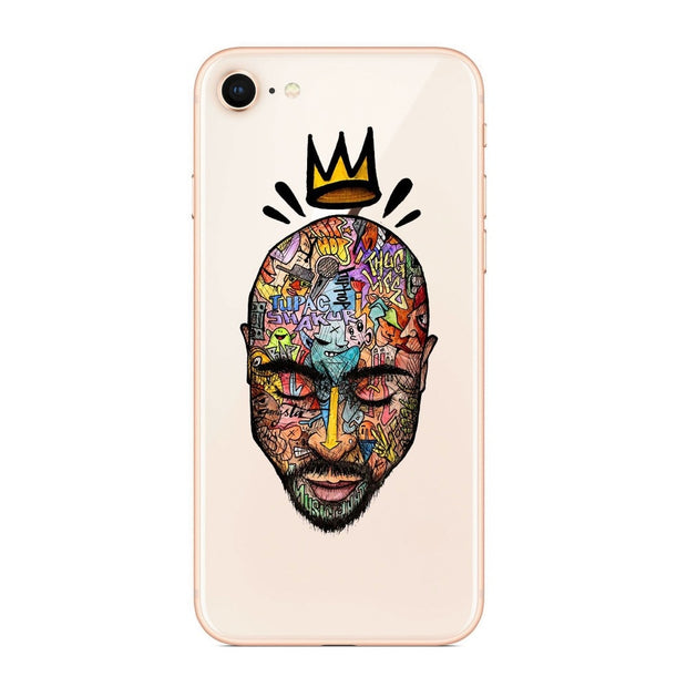 2Pac Tupac Amaru Shakur Makaveli Coque Shell Phone Case For IPhone 8 8Plus 7 6 6SPlus X 5S SE Soft Silicone Phone Cover