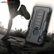 3 In 1 Combo Heavy Duty Shockproof Hybrid Rugged Case With Belt Clip Holster Hard Phone Shell Cover For Iphone X 5S C 6 7 8 Plus