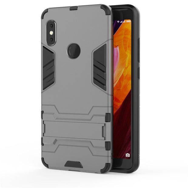 360 Armor Protective Phone Case For Xiaomi Redmi Note 4 4X 5Pro Shockproof Kickstand Cover Shell For Redmi 6 Pro Phone Case Capa