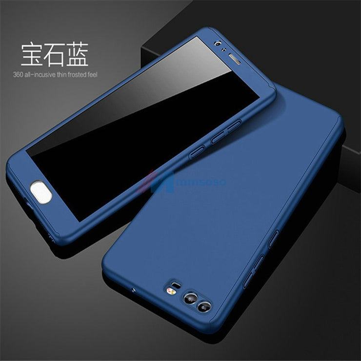 new product 45cba c0254 360 Degree Full Cases For Huawei P10 Lite Back Cover With Tempered Glass  For Huawei P10 P 10 Lite WAS-LX1 Cover Cases