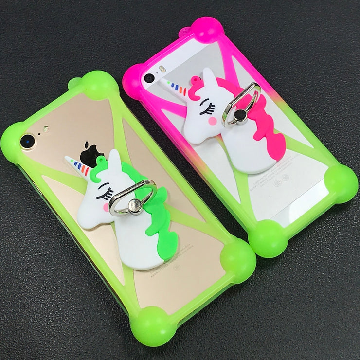 buy online 6955e f0d38 3D Cartoon Soft Silicone Phone Case For Sony Xperia L S36h C2104 C2105 Back  Cover Finger Ring Mobile Phone Lanyard