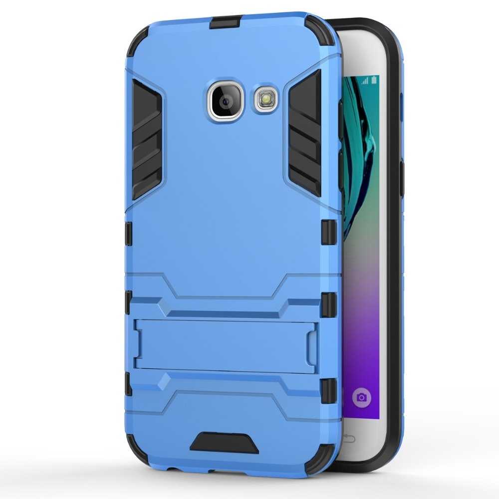 3D Case For Samsung Galaxy 2017 A3 A320F A5 A520F PC+Silicone Dual Layer Iron Man Armor Shield For Samsung A7 2017 A720F Case