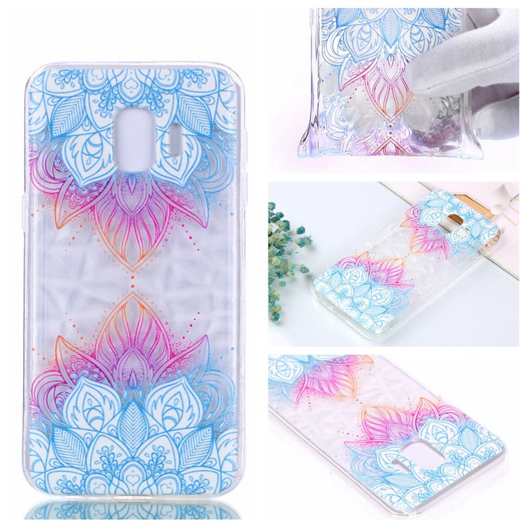 3D Relief Varnish Diamond Pattern Phone Soft Silicone TPU Case Cover Hull Coque Funda For Samsung Galaxy J4 J6 Plus 2018 J2 Core