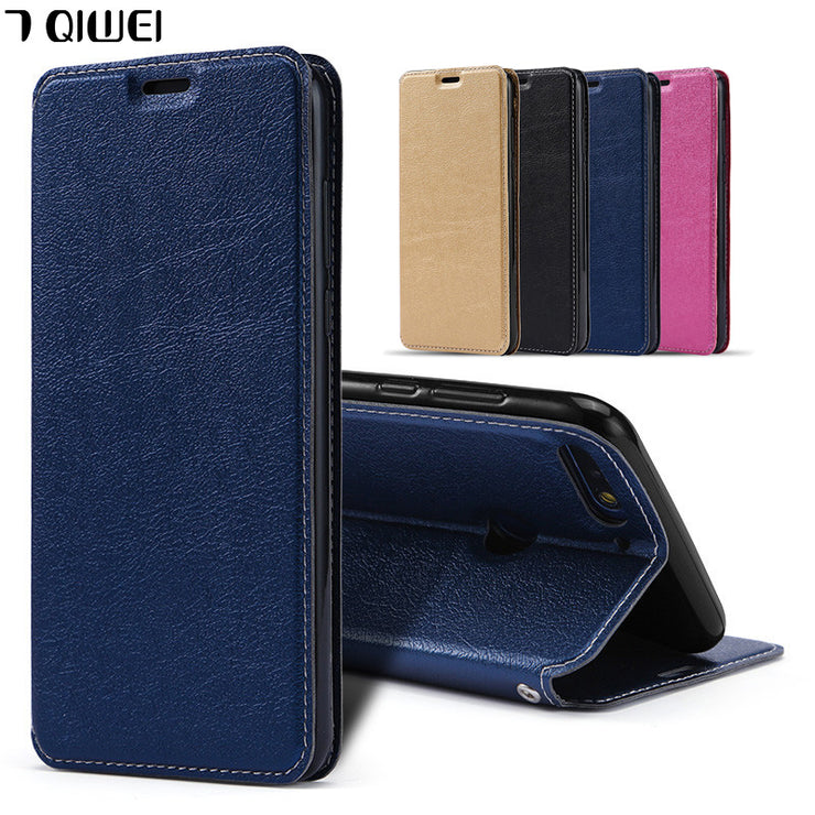 5.93'' For Huawei Honor 7X Case Luxury PU Leather + Silicon Back Cover Case For Huawei Honor 7X Case Wallet Flip Honor 7 X X7