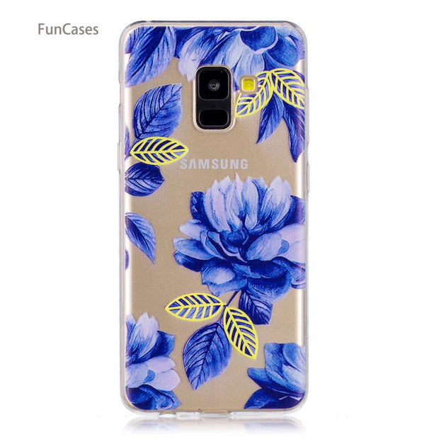 50 Patterns! Cat Case SFor Celular Samsung A8 2018 Soft TPU Back Cover Telefoan Business Wallet Case SFor Samsung Galaxy A530