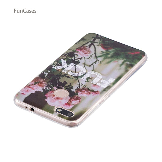 50 Patterns! Girl Case SFor Cellular Huawei P9 Lite Mini Soft Silicone Back Cover Wonderful Floral Case Huawei Ascend Enjoy 7
