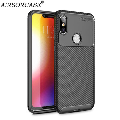 6.2'' For Motorola One Power Case Carbon Fiber Texture Phone Cases For MOTO P30 Note Soft TPU Back Cover Protective Shell