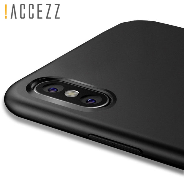 !ACCEZZ TPU Soft Matte Phone Cover Case For Apple Iphone XS MAX XR X 8 7 6 6S Plus Luxury Shell Funda Coque Mobile Fitted Cases