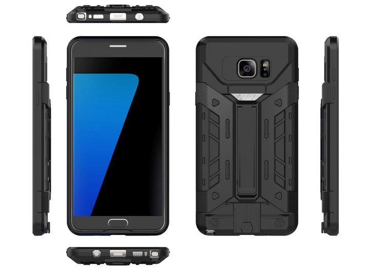AIBOR Heavy Duty Armor Shockproof For Samsung Galaxy Note 5 N920 Note5 Thin Armor Anti-shock Silicone Cover Hard Case Hybrid