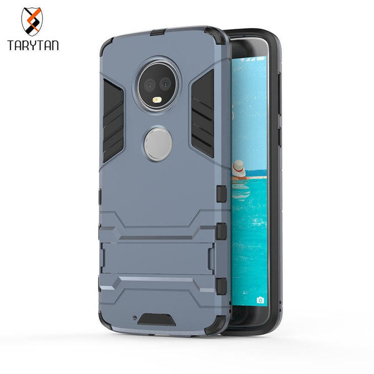 AKABEILA 2 In 1 Armor Cases Armor For MOTO G6 PLUS Case For Motorola Moto G6 Plus Cover Coque Capinha Housing Shell Phone Cases