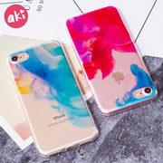 AKI Phone Cases For IPhone 8 7 6 6S Plus Case Beautiful Color Dancing In Water Soft TPU Painted Case Shell Cover