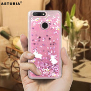 ASTUBIA Unicorn Cat Liquid Case For ZTE Blade V9 Case Silicon Pink Cover For ZTE Blade V8 Case For ZTE Blade V 8 Lite A6 V9 Case