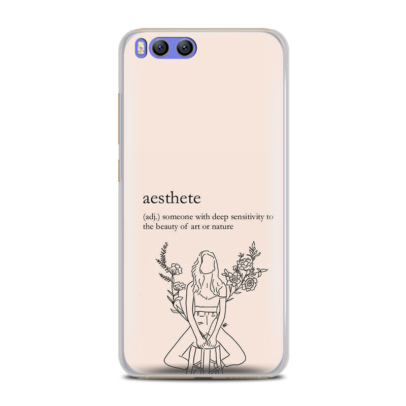 aesthetics chic minimal quotes words phone case shell for xiaomi