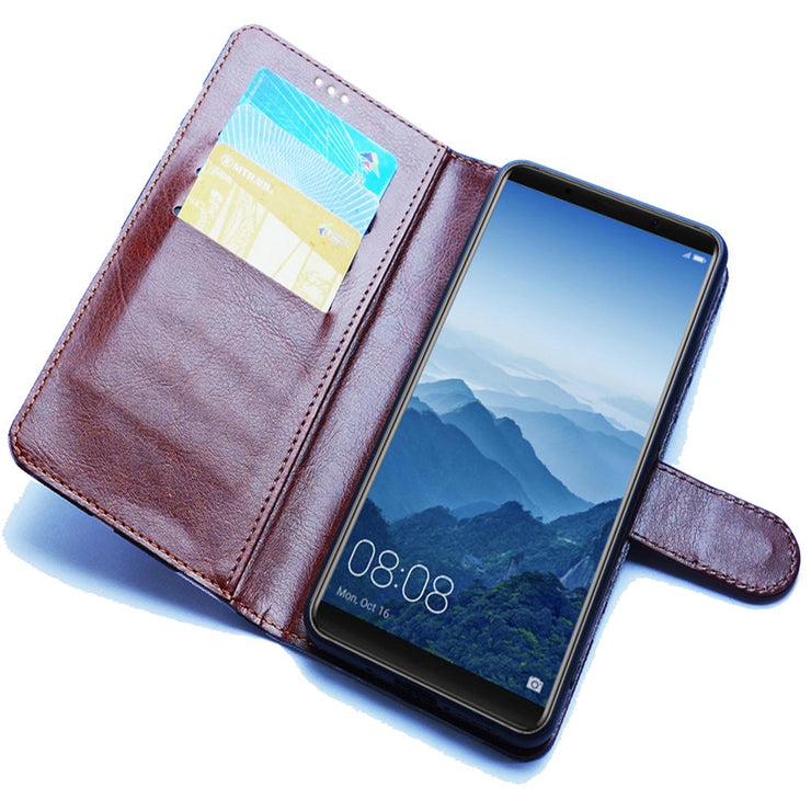 new arrival 9ce27 fec79 Alcatel 3C Case Alcatel 5026D Case Luxury PU Leather Back Cover ...