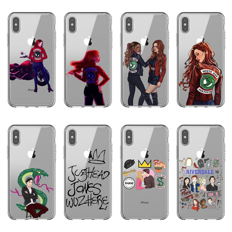 cheap for discount d0318 2afbe American TV Riverdale Phone Case For IPhone 5s Se 6 6S Plus 7 7 Plus 8 8  Plus X XR XS MAX Transparent Soft Silicone Coque Cover