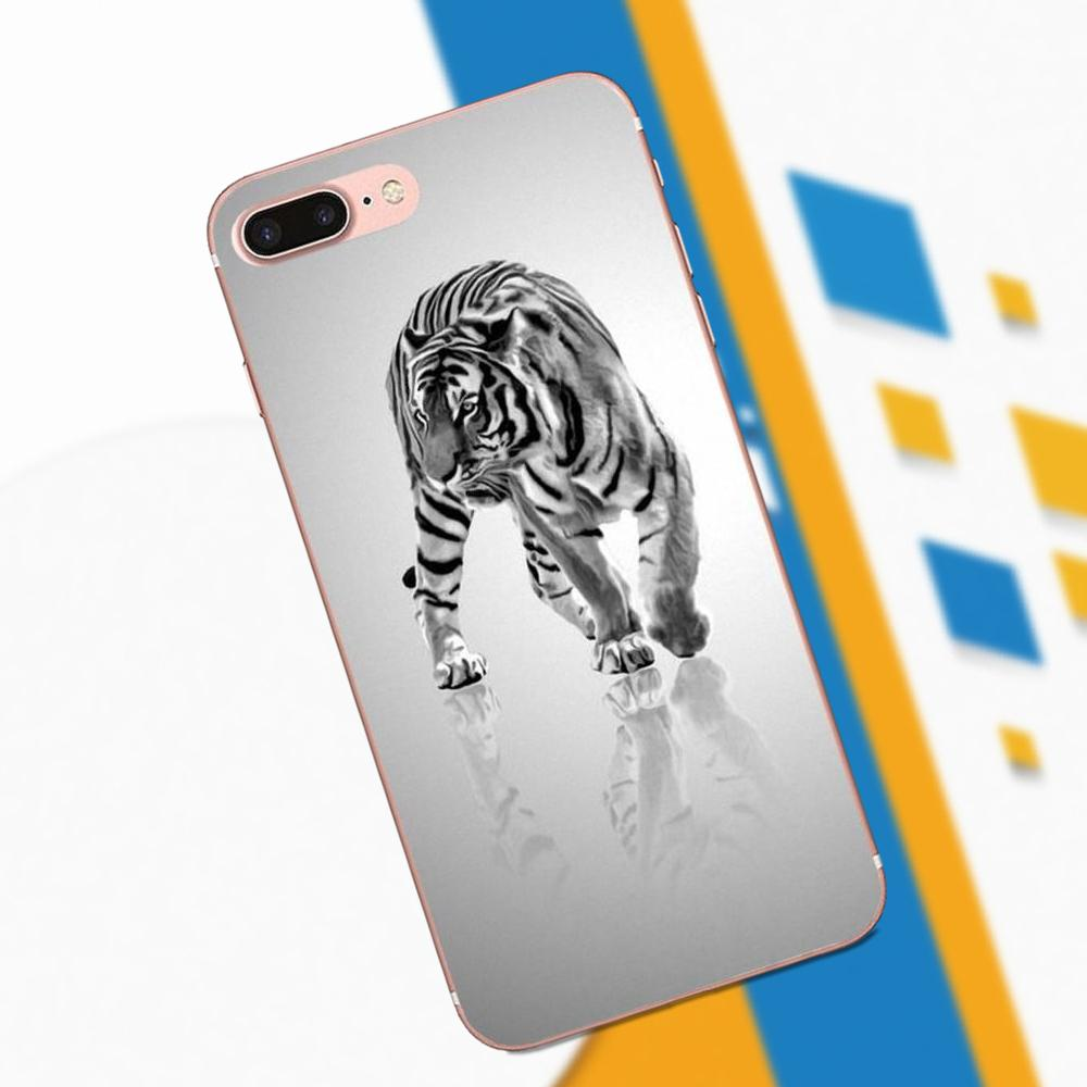An Animal White Tiger Burning Bright 2017 For LG G4 G5 G6 K4 K7 K8 K10 2017 V10 V20 V30 Stylus Nexus 5 5X G2 G3 Mini Spirit